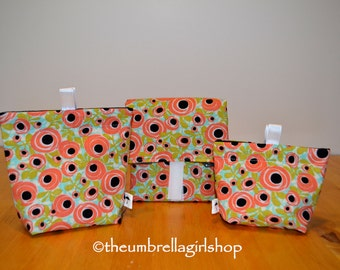 Ready to ship-Spring Flowers Reusable Lunch Kit