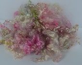 Kid Mohair Locks - 2 ounces Pinks/Green/Cream