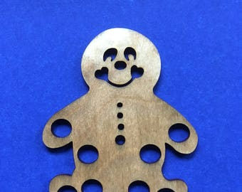Wood Gingerbread Man Thread Keep