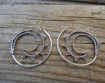 Handmade earrings in sterling silver 925