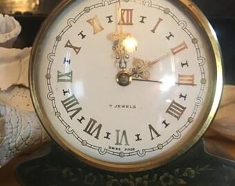 Vintage Swiss semca alarm clock
