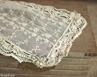 Cream Wrap, Baby Lace Wrap, Baby Girl Cocoon Wrap, Mesh, Vintage Baby Girl Prop, newborn Props, RTS, Cotton Wrap, Baby Props
