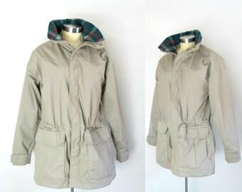 Woolrich Khaki Plaid Wool Jacket