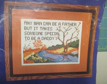 vintage counted cross stitch kit Something Special any man can be a father 50021