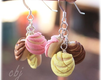 Concha Sweet Bread Earrings, Concha Jewelry, Polymer Clay Conchas