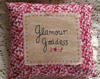 Prim Stitchery Glamour Goddess Pillow ~OFG