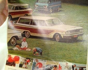 1963 FORD Falcon Club Wagon Fairlane and Falcon Ad.