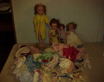 Dolls and Doll Clothes Lot