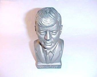 Molded Plastic John F Kennedy Memorial Bust