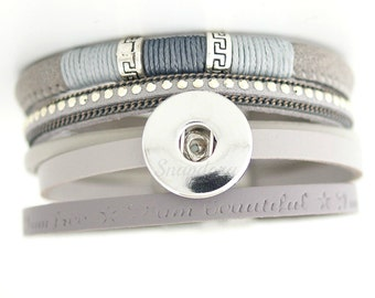 Snap bracelet for regular Ginger Snaps jewelry. Works with other 18-20 mm snap jewelry.