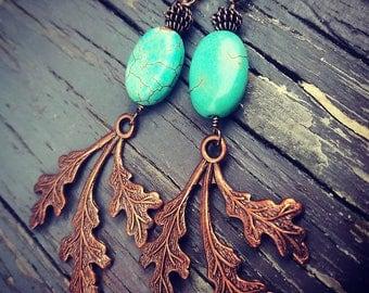 Copper Branch Earrings