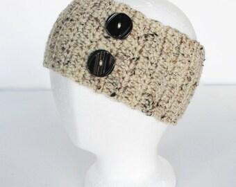Ladies Crocheted Headband Ear Warmer