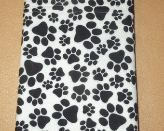 Paw Print theme travel  size or toddler size pillow case