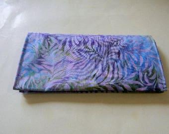 Lavender Leaf Batik Checkbook Cover