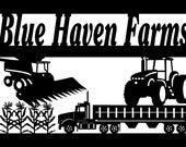 Blue Haven Farms custom sign