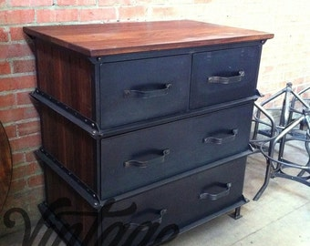 Vintage Industrial Ellis Dresser / French Industrial