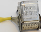 Vintage yellow handle Mouli Grater made in France