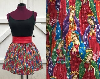 Two sizes!  Virgin Mary or Our Lady of Guadalupe skirt, small / medium / large