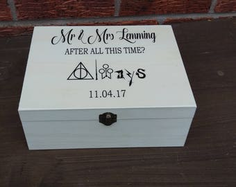 Wedding Harry Potter always Keepsake Memory Box personalized wooden box  personalized