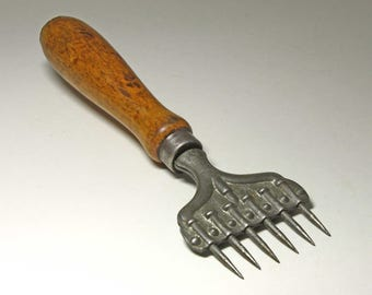 Vintage Large Ice Pick Chipper, 5 Prong Ice Chipper  - circa 1909