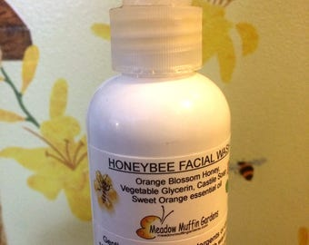 Facial Wash, Honey Glycerin, Ideal for sensitive skin, dry skin, blemish prone skin, combination skin