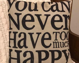 Happy Place Quote Pillow