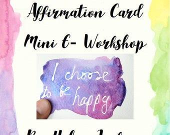 Positive Affirmation Card Mini E-Workshop