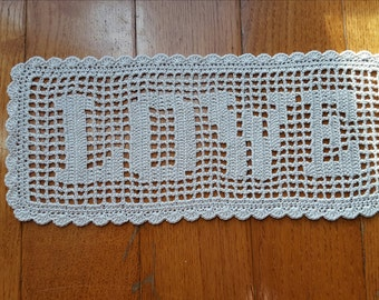 BIRTHDAY  GIFTS for mom white cotton doily runner crochet doily lace name doily doily table runner crochet name doily white  doily