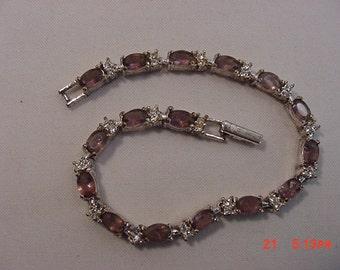 Vintage Avon Light Purple Glass Bracelet  16 - 650
