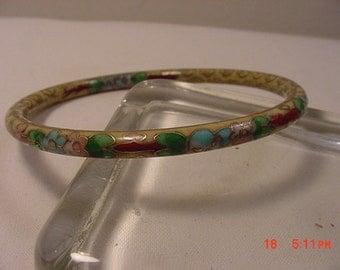 Vintage Bangle Bracelet Looks Like Cloisonne  16 - 850