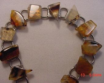 Vintage Polished Stones Bracelet  17 - 324
