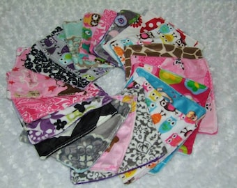 Minky Wash Cloths- Minky Wipes - Minky Face Cloths - Minky Sets of Wash Cloths