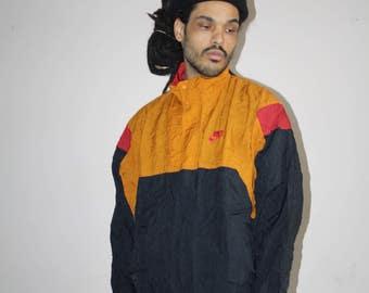 90s Vintage Nike Colorblock Hip Hop Windbreaker Jacket - 1990s Nike - 90s Clothing - MV0129