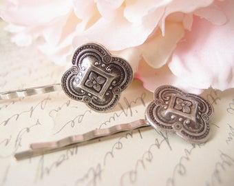 Medieval floral  bobby pins-medieval-shabby chic-steampunk-Victorian V034