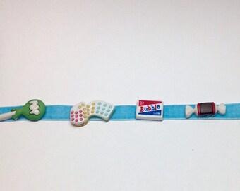 Candy Necklace/Kawaii Choker/Kawaii/Fairy Kei/Hime Kei/Sweet Lolita/Pastel Choker/Velvet Collar/CLEARANCE PRICE Last One