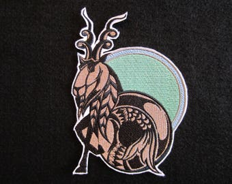 Embroidered Capricorn Iron On Patch, Zodiac Sign Capricorn, Iron On Patch, Capricorn Patch, Horoscope Patch