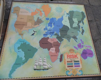 RISK vintage 1980 Parker Brothers board game World Conquest Game COMPLETE game ready for your family game night