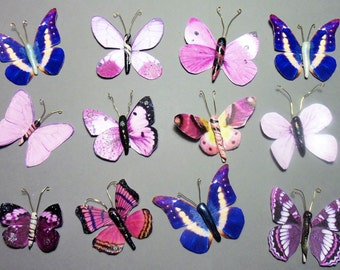 Set of 12 Paper Clay Butterflies Crafts Projects