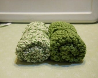 Dishcloth's, Set of 2 Dishcloth's, Knitted Dishcloth's, Housewarming Gift, Kitchen Decor, Cotton Dishcloth's