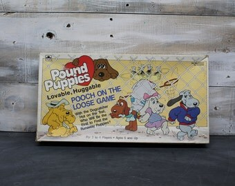 1986 Pound Puppy Board Game Pooch on the Loose