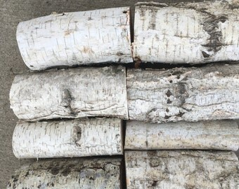 "Set of 17 White Birch Logs 5 1/2"" long and 1 1/2"" to 2 1/2""  in diameter Fireplace and wedding decorations"