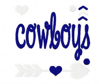 Cowboys //Football // Machine Embroidery Design // Sports Embroidery Design // Mascot Embroidery Design //Embroidery Design//Joyful Stitches