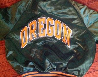 Vintage King Louie Pro Fit Satin Oregon Jacket Coat size Medium 40 42