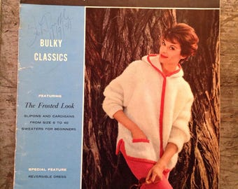 Vintage 1959 Spinnerin Bulky Classics Knitting Pattern Book Volume 150