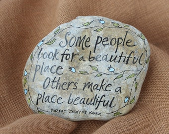 Some People Quote Stone ,Hand Painted Rock, ArtRocks, Quote on Stone, Inspirational Art, Handmade Gift, Natural Art, Motivational Decor