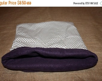 BLOWOUT SALE... XL/Large Polka dot Pouch for small pocket pets.