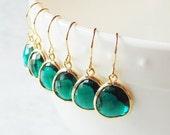 SALE Gift Emerald earrings Emerald drop earrings Green earrings Green dangle earrings Bridesmaid earrings Bridal earrings Green drop earring