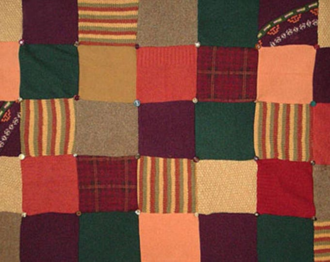 "My ""Spanish Village"" Wool Sweater Quilt — I can make one similar for you!"
