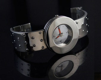 vintage unsex wrist watch Hi Tek London Alexander Cyber Goth Cyber Punk style unusual gift for him gift for her