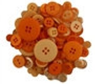 Buttons Tangerine Tango